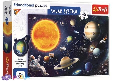 70 ел. Навчальні - Сонячна система (англомовна версія) / Trefl
