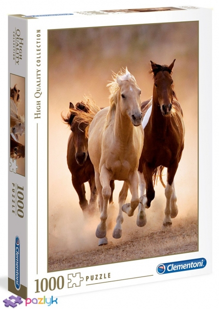 1000 ел. High Quality Collection - Біжучі коні / Clementoni