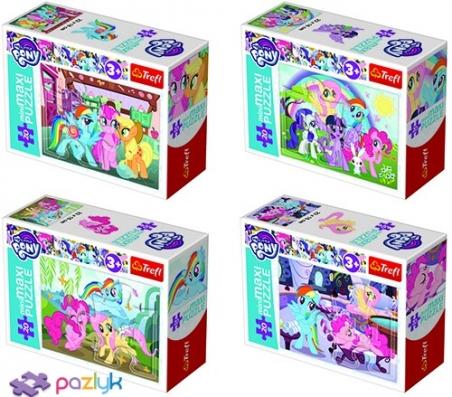 20 ел. МініМаксі - Веселий день маленьких Поні / Hasbro, My Little Pony / Trefl