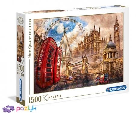 1500 эл. High Quality Collection - Винтажный Лондон / Clementoni