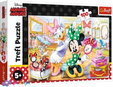100 ел. - Мишка Мінні у салоні краси / Disney Minnie / Trefl