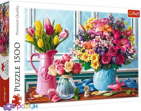 1500 ел. - Квіти у вазах / MGL / Trefl