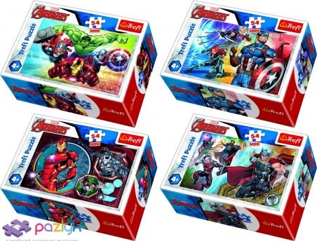 54 эл. Мини - Мстители. Герои / Disney Marvel The Avengers / Trefl