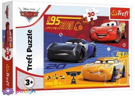 30 эл. - Тачки перед гонкой / Disney Cars 3 / Trefl