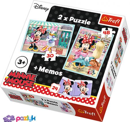 2 в 1 (30,48) эл.+ Мемос – Хобби мышки Минни  / Disney Minnie / Trefl