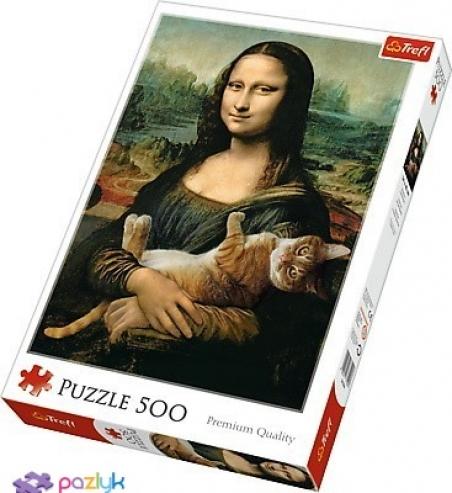 500 ел. - Роб Дей. Мона Ліза і котик Мурчик / Trefl