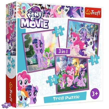 3 в 1 (20,36,50) ел. - Магія дружби / Hasbro My Little Pony The Movie / Trefl