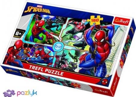 160 эл. - Спайдермен спешит на помощь. Коллаж / Disney Marvel Spiderman / Trefl