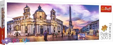 500 ел. Panorama - П'яцца Навона, Рим, Італія / Trefl