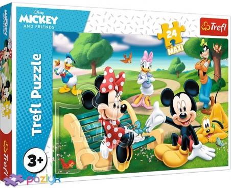 24 эл. Макси - Мышка Микки среди друзей / Disney Standard Characters / Trefl