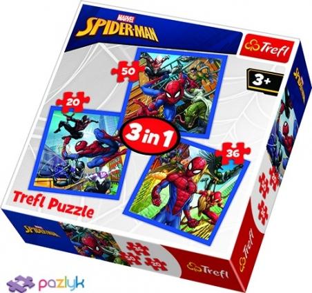 3 в 1 (20,36,50) эл. - Спайдермен. Сила паука / Disney Marvel Spiderman / Trefl
