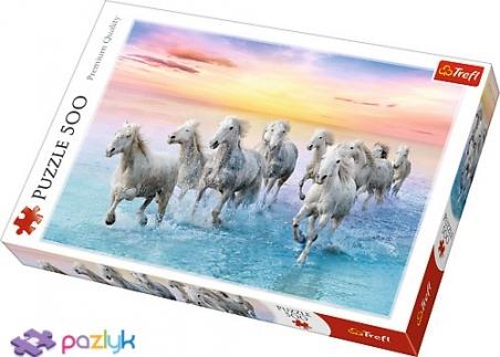 500 эл. - Белые лошади в галопе / Trefl