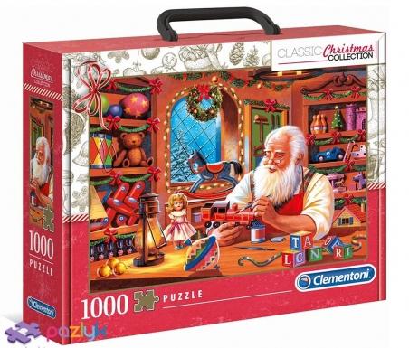 1000 эл. Чемоданчик - Christmas Collection. Мастерская Святого Николая / Clementoni