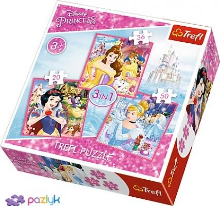3 в 1 (20,36,50) ел. - Чарівний світ Принцес / Disney Princess / Trefl