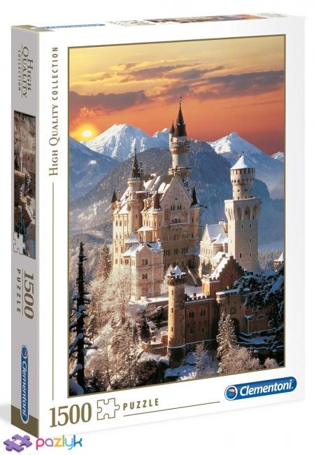 1500 эл. High Quality Collection - Замок Нойшванштайн зимой / Clementoni