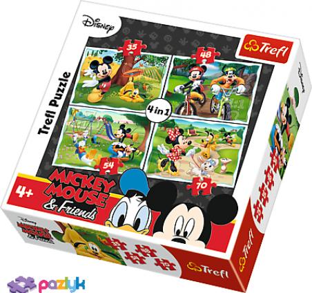 4 в 1 (35,48,54,70) ел. – Клуб друзів Мишки Міккі. Веселі ігри в парку / Disney Standard Characters / Trefl