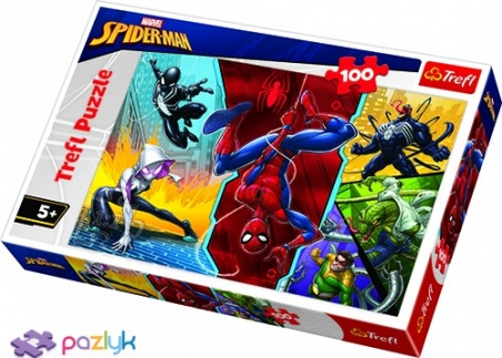 100 эл. - Спайдермен. Вверх ногами / Disney Marvel Spiderman / Trefl