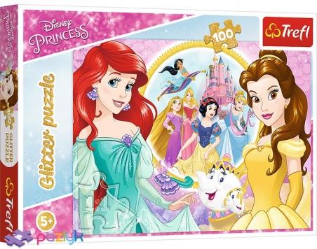 100 ел. Glitter - Прогулянка Принцес / Disney Princess / Trefl