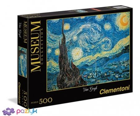 500 ел. Музейна Колекція - Вінсент Ван Гог. Зоряна ніч / Clementoni