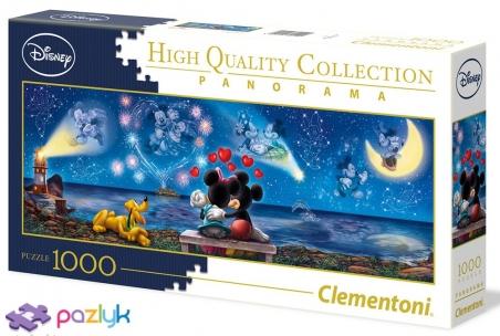 1000 ел. Панорама - Міккі та Мінні  / Disney / Clementoni