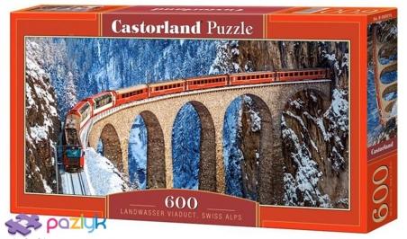 600 ел. - Віадук Ландвассер, Швейцарські Альпи / Castorland