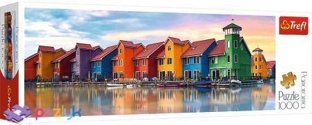 1000 эл. Panorama - Домики на набережной Гронингена, Нидерланды / Trefl