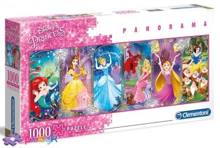 1000 ел. Панорама - Діснеївські Принцеси. Колаж / Disney Princess / Clementoni