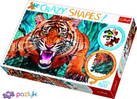 600 эл. Crazy Shapes - Один на один з тигром / 500px / Trefl