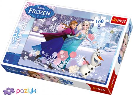 160 эл. - Холодное сердце. Катание на коньках / Disney Frozen / Trefl