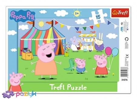 15 эл. Рамочные - Свинка Пеппа. В парке развлечений / Peppa Pig / Trefl