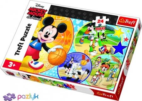 24 эл. Макси - Мышка Микки. Время для спорта / Disney Standard Characters / Trefl