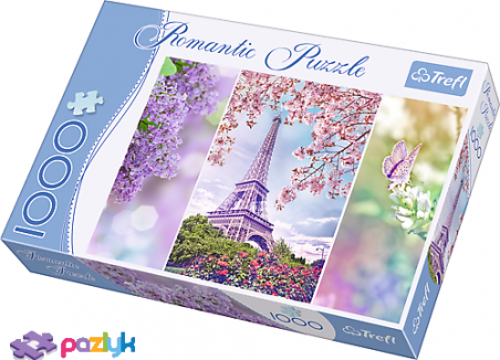 1000 эл. Romantic - Весна в Париже / Trefl