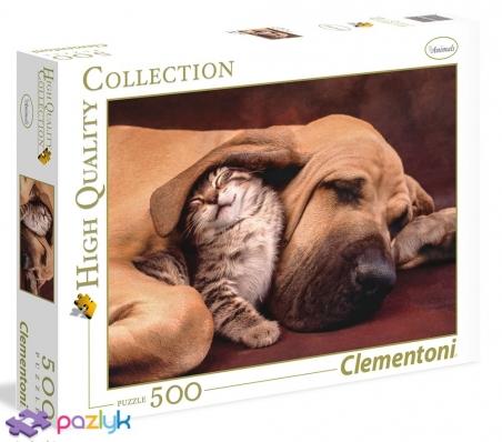 500 эл. High Quality Collection - Пес и кот / Clementoni
