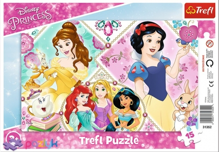 15 эл. Рамочные - Очаровательные принцессы / Disney Princess / Trefl