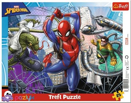 25 эл. Рамочные - Отважный Спайдермен / Disney Marvel Spiderman  / Trefl
