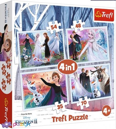 4 в 1 (35,48,54,70) ел. - Крижане серце-2. У чарівному лісі / Disney Frozen 2 / Trefl