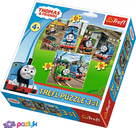 3 в 1 (20,36,50) ел. – Томас, вперед! Томас та друзі / Thomas and Friends / Trefl