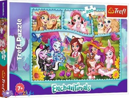 200 эл. - Удивительный мир Энчантималс / Mattel Enchantimals / Trefl