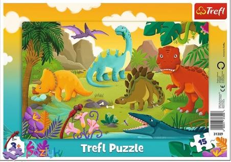 15 ел. Рамкові - Динозаври / Trefl