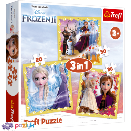 3 в 1 (20,36,50) эл. - Холодное сердце-2. Сила Анны и Эльзы / Disney Frozen 2 / Trefl