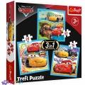 3 в 1 (20,36,50) эл. - Тачки-3. Подготовка к гонке / Disney Cars 3 / Trefl