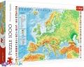 1000 эл. - Физическая карта Европы / Trefl