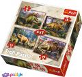 4 в 1 (35,48,54,70) эл. – Динозавры / Trefl