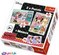 2 в 1 (30,48) ел.+ Мемос – Хоббі мишки Мінні / Disney Minnie / Trefl