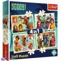 4 в 1 (35,48,54,70) эл. - Скуби-Ду и его друзья / Warner Scooby Doo - Scoob Movie / Trefl