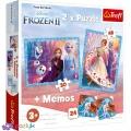 2 в 1 (30,48) эл.+ Мемос – Холодное сердце-2. Загадочная земля / Disney Frozen 2 / Trefl